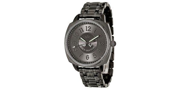 Dámské šedé hodinky z oceli Juicy Couture