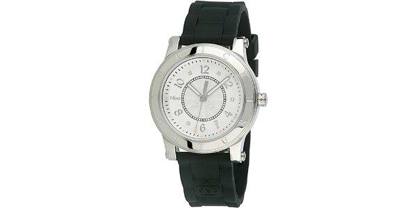 Dámské hodinky s černým silikonovým řemínkem Juicy Couture