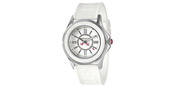 Dámské hodinky s bílým řemínkem Juicy Couture