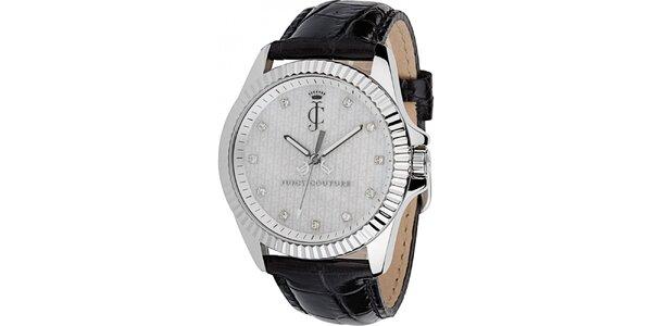 Dámské analogové hodinky s hranatými kamínky Juicy Couture