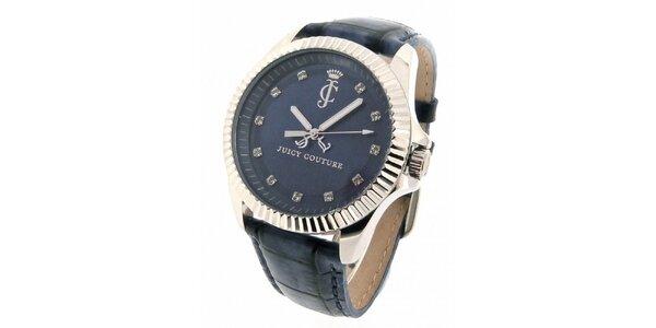 Dámské tmavě modré hodinky s kamínky Juicy Couture