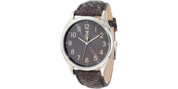 Dámské analogové hodinky s koženým páskem Juicy Couture