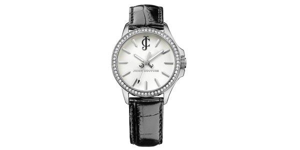 Dámské hodinky s černým náramkem Juicy Couture