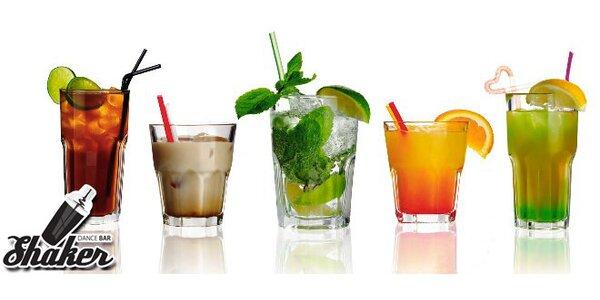 Dva nebo čtyři koktejly dle Vašeho výběru