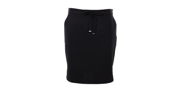 Dámská černá sukně se šněrováním Kaffe