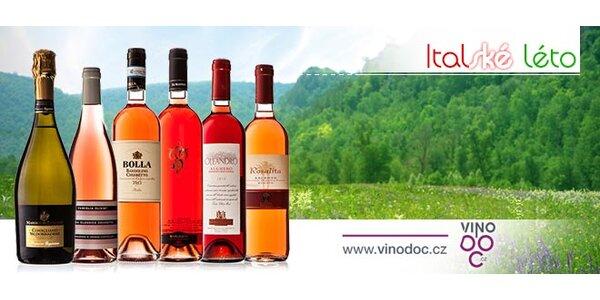 Italská letní vína včetně Prosecca