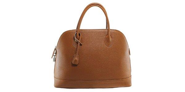 Dámská hnědá kožená kabelka s odnímatelným popruhem Florence Bags