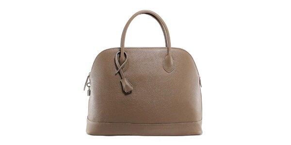 Dámská šedohnědá kožená kabelka s odnímatelným popruhem Florence Bags
