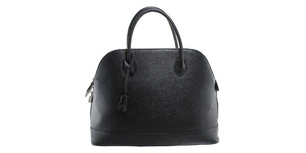 Dámská černá kožená kabelka s odnímatelným popruhem Florence Bags