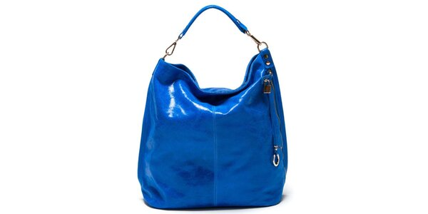 Dámská modrá kabelka s jedním uchem Luisa Vannini