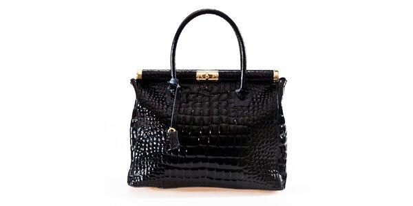 Dámská černá kabelka se zámečkem Luisa Vannini