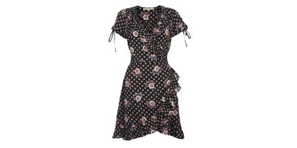 Dámské černobílé šaty s volány Uttam Boutique