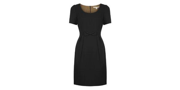 Dámské černé šaty s mašličkou Uttam Boutique