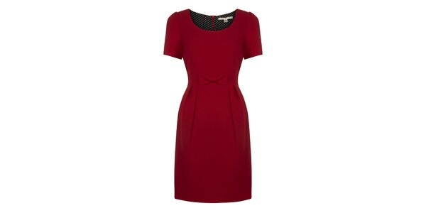 Dámské červené šaty s mašličkou Uttam Boutique