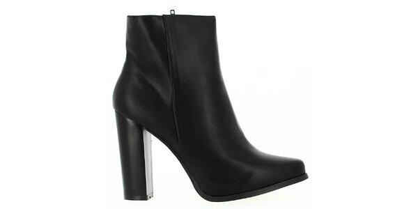 Dámské černé kotníkové boty Shoes and the City
