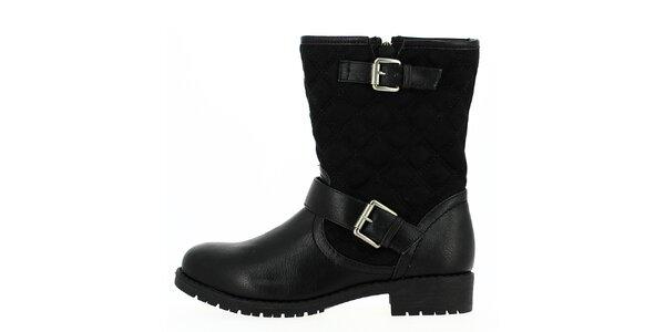 Dámské černé boty na zip Shoes and the City
