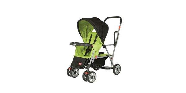 Joovy - Kočárek Caboose - pro dvě děti zelený