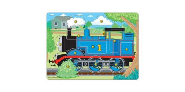 Puzzle - Vkládací puzzle Lokomotiva Tomáš 11 ks