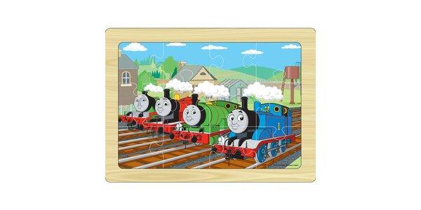 Puzzle - Dřevěné puzzle na desce 12 ks