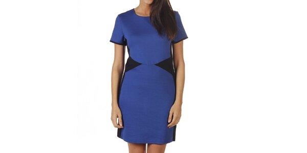 Dámské modré šaty s černými vsadkami Ada Gatii