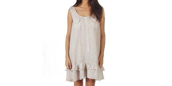 Dámské světle béžové šaty na ramínka Ada Gatti
