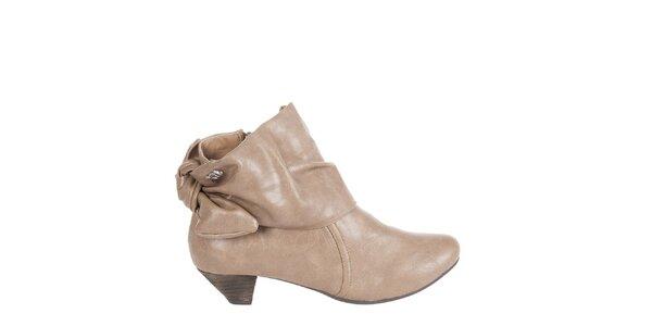 Dámské světle hnědé kotníkové boty Xti