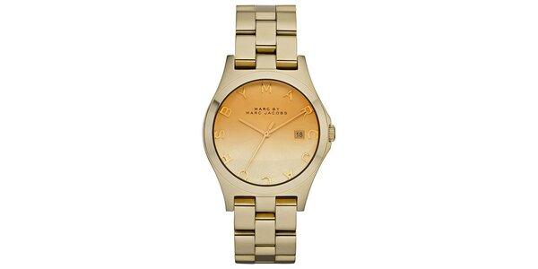 Dámské zlaté hodinky s nápisem Marc Jacobs