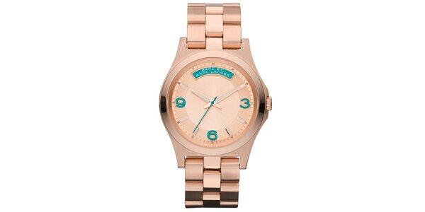 Dámské pozlacené ocelové hodinky s barevnými číslicemi Marc Jacobs