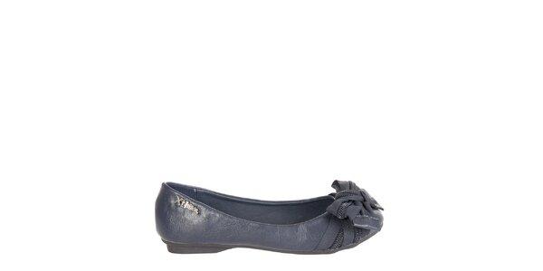 Dívčí tmavě modré baleríny Xti s mašlí