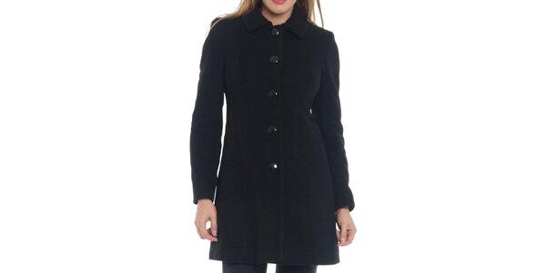Dámský černý kabát s knoflíky Vera Ravenna