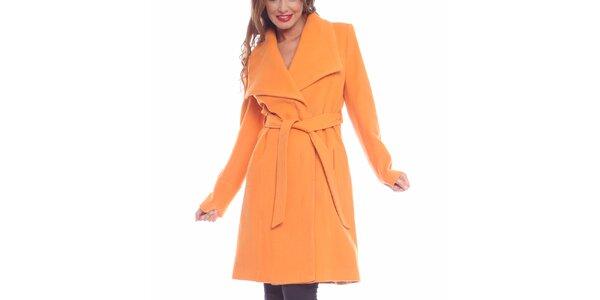 Dámský broskvový kabát Vera Ravenna