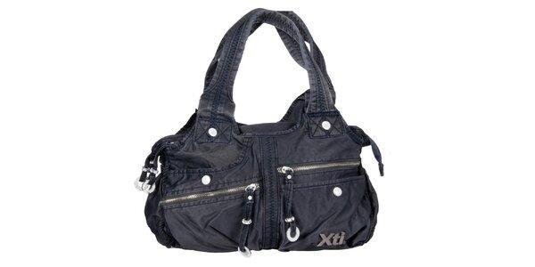 Dámská modrá denimová kabelka Xti s kapsami