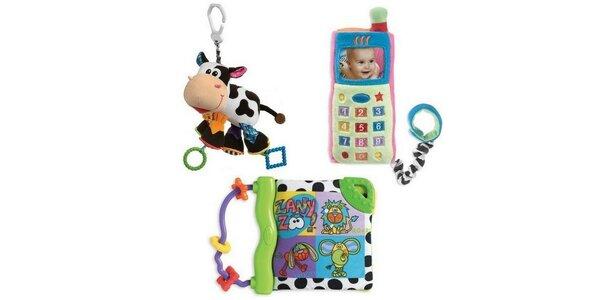 SET Playgro 2 - Kravička+Můj první mobilní telefon+Kousací knížka se zvuky