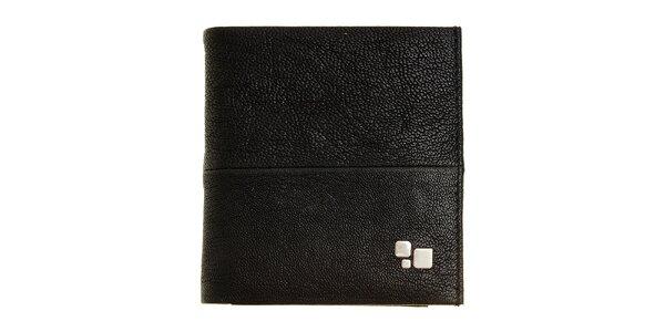 Pánská černá kožená peněženka Puntotres