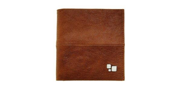 Pánská hnědá kožená peněženka Puntotres