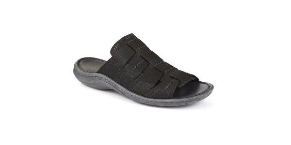 Pánské černé pantofle Clarks