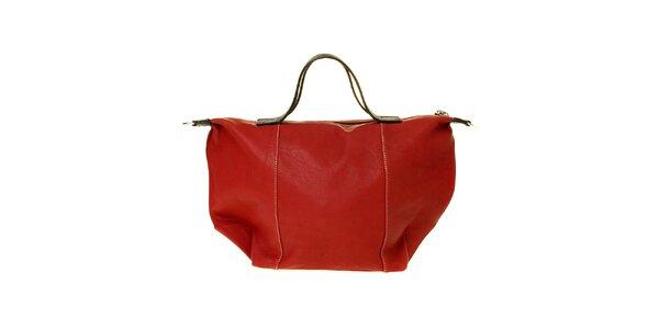 Dámská třešňová kožená kabelka Puntotres