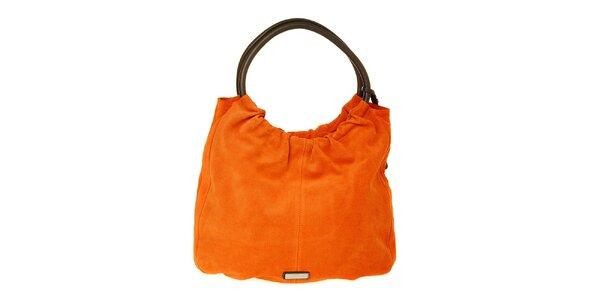 Dámská oranžová semišová kabelka Puntotres