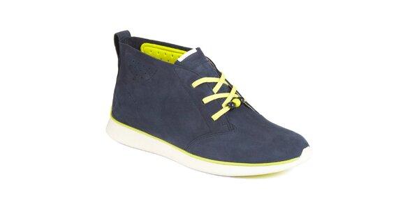 Dámské tmavomodré semišové boty Clarks