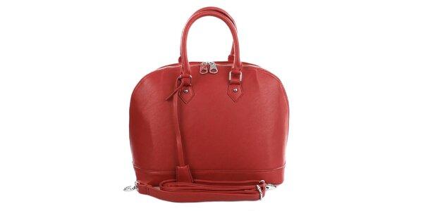 Dámská červená bowlingová kabelka London Fashion