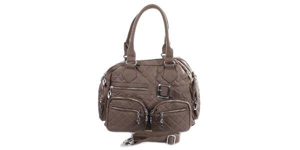 Dámská prošívaná kabelka s kapsami London Fashion