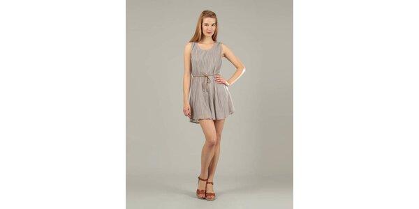 Dámské šedé plisované šaty Jubylee