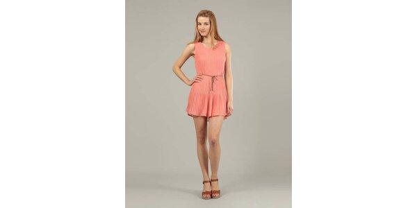 Dámské růžové plisované šaty Jubylee