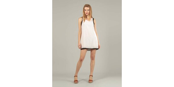 Dámské bílé šaty Jubylee s černým lemem