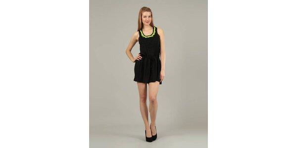 Dámské černé šaty Jubylee s výšivkou