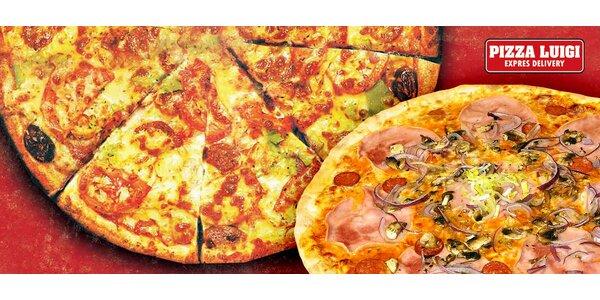 Dvě čerstvé pizzy. Vybírejte z mnoha druhů