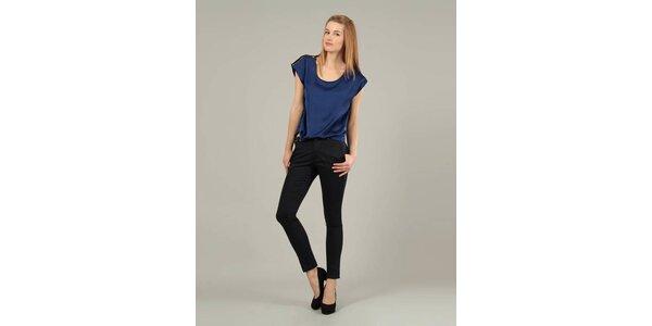 Dámské temně modré kalhoty Jubylee s kovovými cvoky