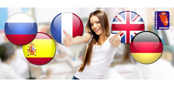 Půlroční jazykový kurz AJ, NJ FJ ŠJ a RJ