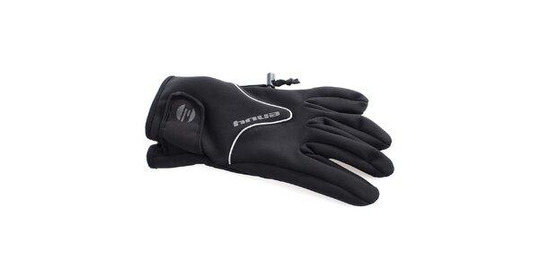 Pánské černé sportovní rukavice s fleecovou podšívkou Envy