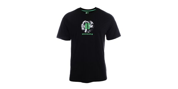 Pánské černé tričko s krátkým rukávem a potiskem Envy